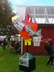 Fire Breathing Salmon Designed by artist Ray Troll